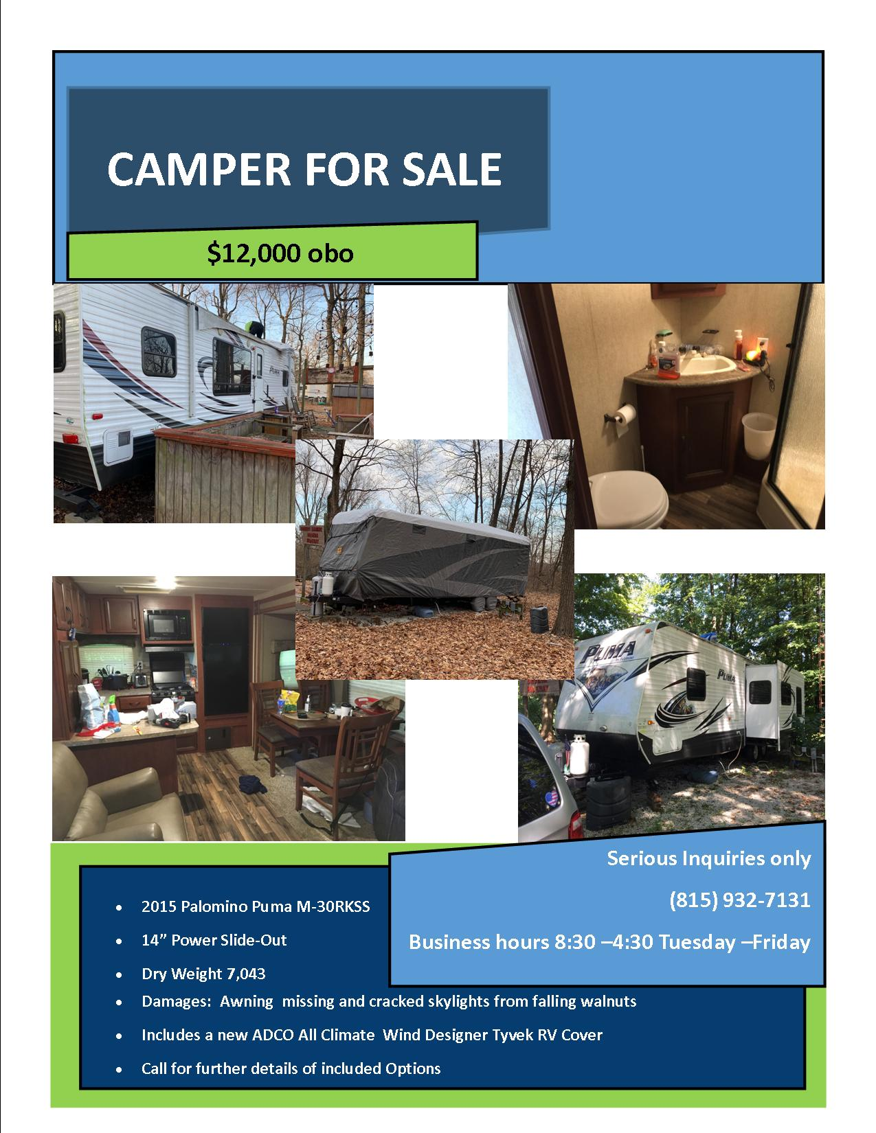 Drozda Camper sale flyer